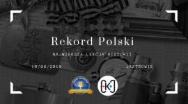 W Jastrowiu zorganizują największą w Polsce lekcję historii Hobby,  - Już 10 sierpnia 2019 roku w Jastrowiu, z inicjatywy Ośrodka Kultury w Jastrowiu odbędzie się oficjalna próba ustanowienia Rekordu Polski na największą lekcję historii.
